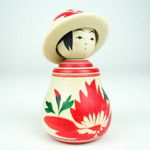 Kokeshi with Hat 8cm