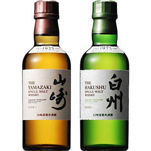 [FREE Shipping ] [ 2 BOTTLES ] Suntory Yamazaki & Hakushu Single Malt Whiskey 180ml