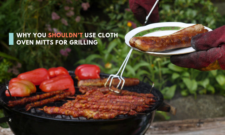 Why You Shouldn't Use Cloth Oven Mitts for Grilling