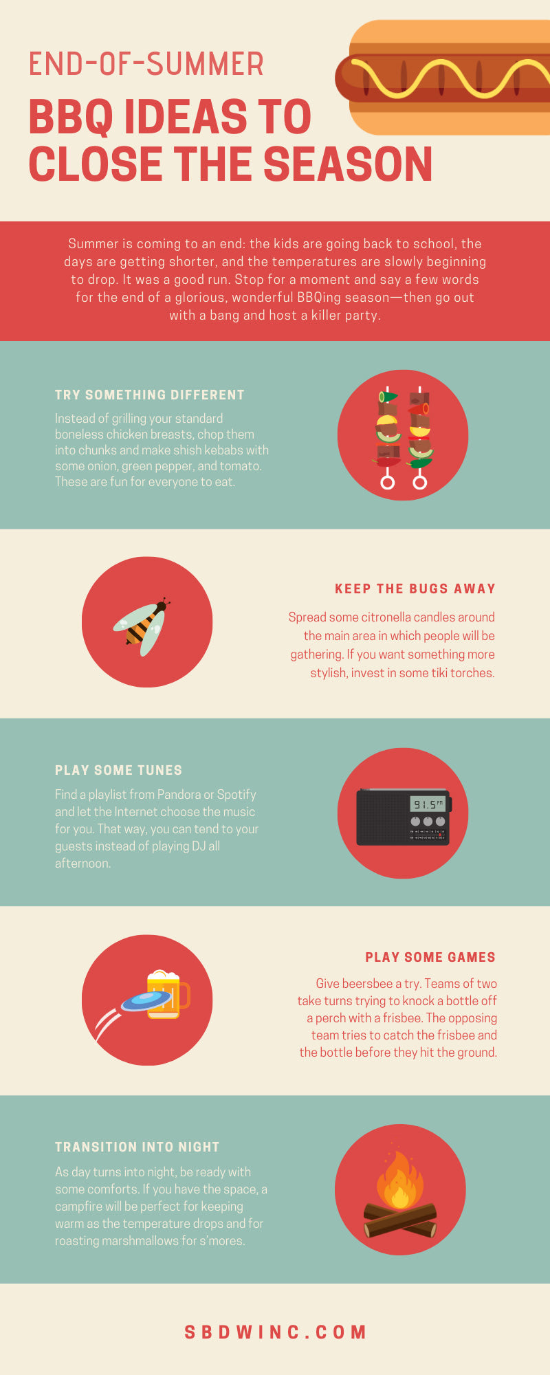 End-of-Summer BBQ Ideas to Close the Season infographic