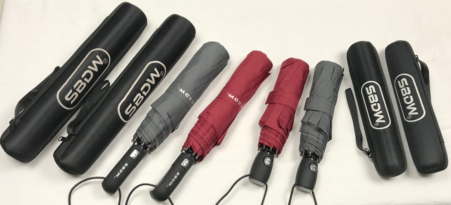 (4-Pack) Windproof Travel Umbrellas - 50% Off Bundle