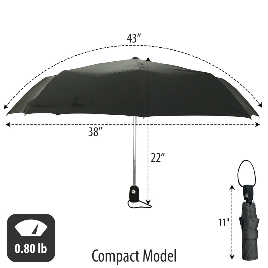 "38"" Windproof Travel Umbrella Automatic - Compact"