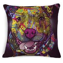 French Bulldog, Pug, Bull Terrier, Colorful Scandinavian Design Cushion Covers