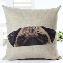 2017 Cute Hot Selling Sleepy Pug Home Decorative Sofa Cushion Covers, Cotton Linen