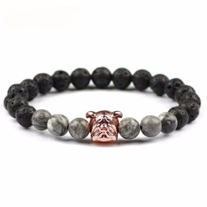 FREE Luxury Pug Head Charm Bracelet