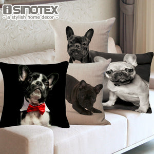 French Bulldog, Pug, Printed Cushion Covers. Various Designs