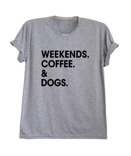 Weekends. Coffee. & Dogs. Cotton Tee