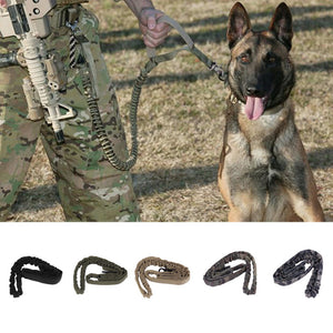 Tactical Military Dog Bungee Leash for Training