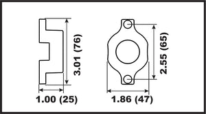 00144A Bombardier (Johnson/Evinrude) Front Gearcase Anode