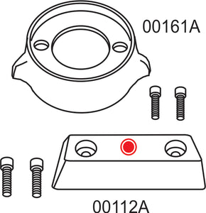 10276A Volvo Penta 290 Complete Anode Kit