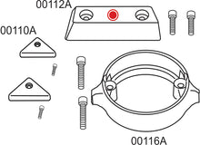 10277AE Volvo Penta 290 Duo Prop Complete Anode Kit For Export