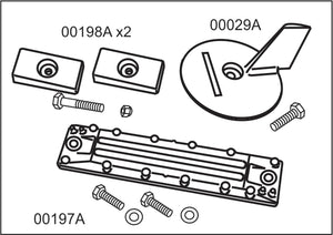 10471A Honda BF 75-115 hp Complete Anode Kit