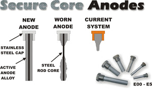 CE-2 Complete Aluminum Pencil Anode with Plug