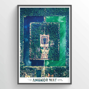 Angkor Wat Earth Photography - Art Print - Point Two Design