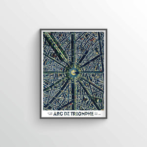 Arc de Triomphe Earth Photography - Art Print - Point Two Design