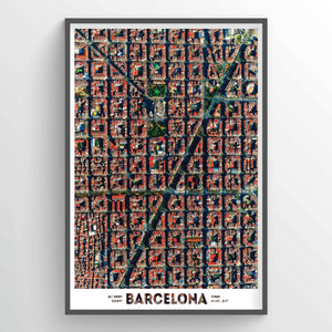 Barcelona Earth Photography - Art Print - Point Two Design