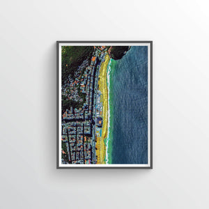 Copacabana Beach Earth Photography - Art Print - Point Two Design