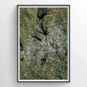 Dallas Earth Photography - Art Print - Point Two Design