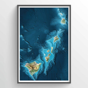 Frigate Shoals Earth Photography - Art Print - Point Two Design