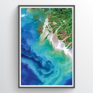 Mackenzie Delta Earth Photography - Art Print