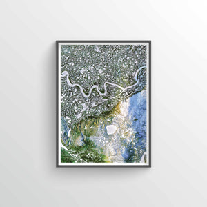 Mackenzie River Earth Photography - Art Print