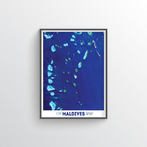 Maldives Earth Photography - Art Print