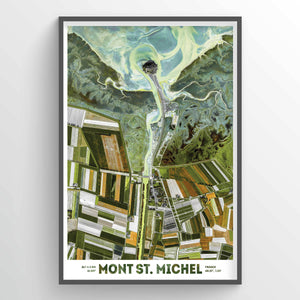 Mont St Michel Earth Photography - Art Print