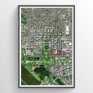 Washington DC Earth Photography - Art Print