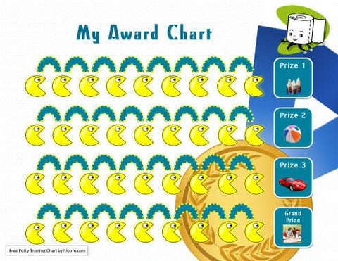 awards potty training chart