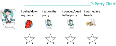 boys potty training chart