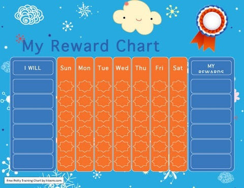 rewards potty training sticker chart
