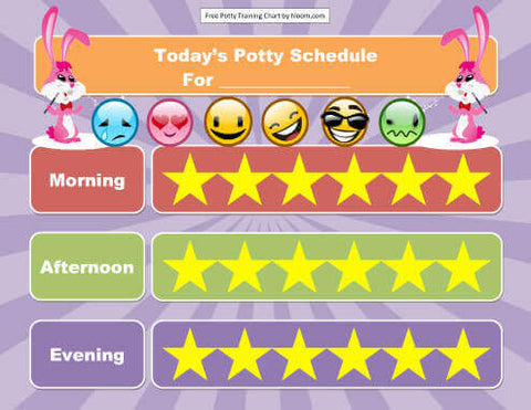 star potty training chart