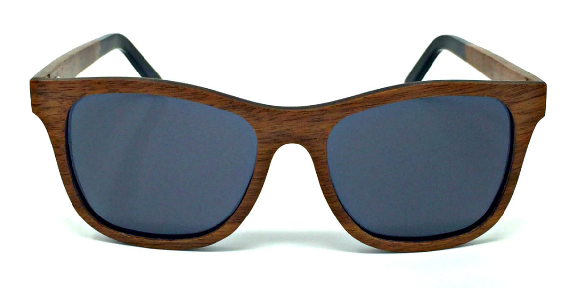 Jade - Wood Sunglasses with Grey Polarized Lenses