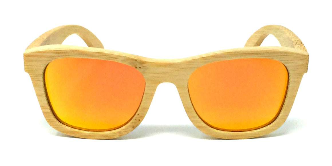 Peyton - Bamboo Kids Sunglasses with Orange Polarized Lenses