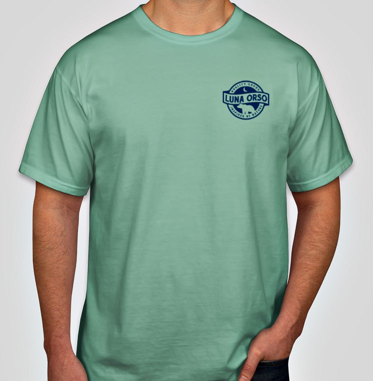 Luna Orso Comfort Colors Short Sleeve T-Shirt Seafoam/Navy Back