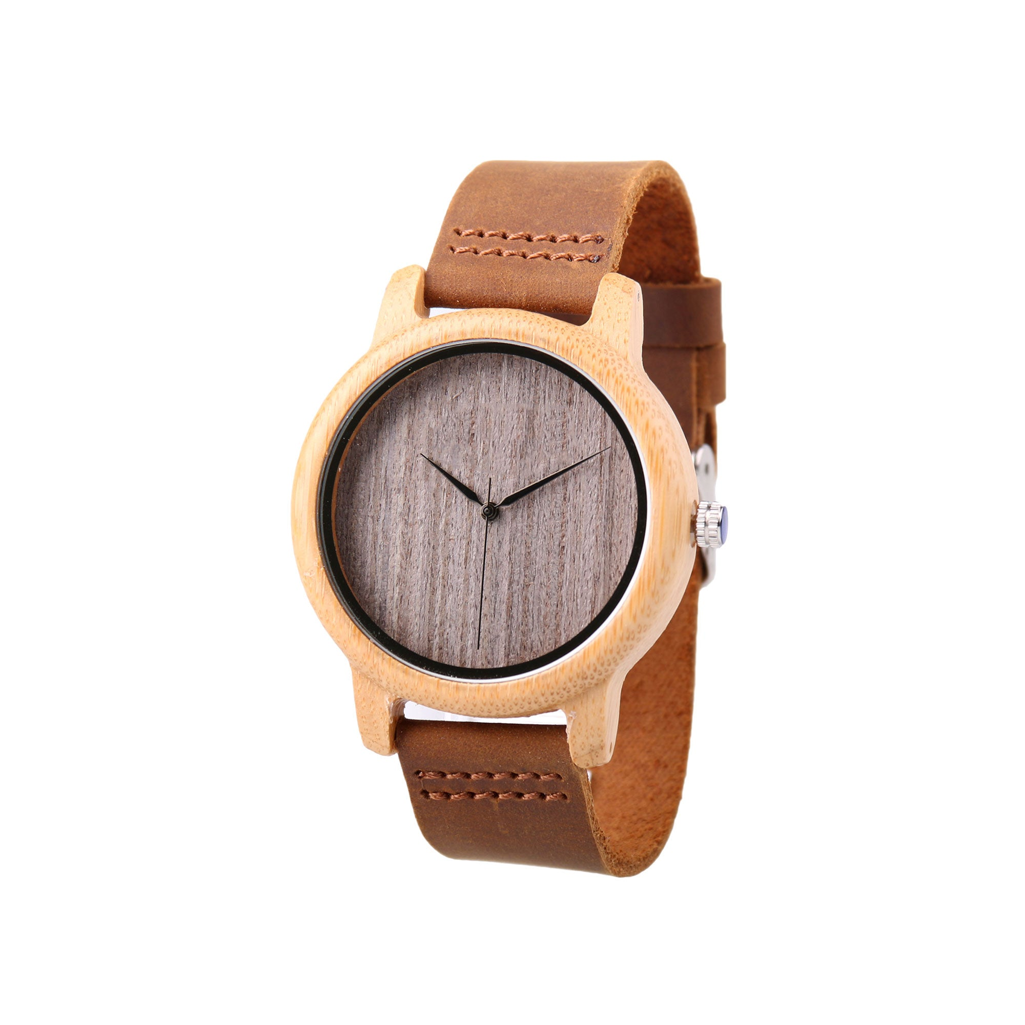 Ralph Wood Watch | Light Wood | Leather Strap