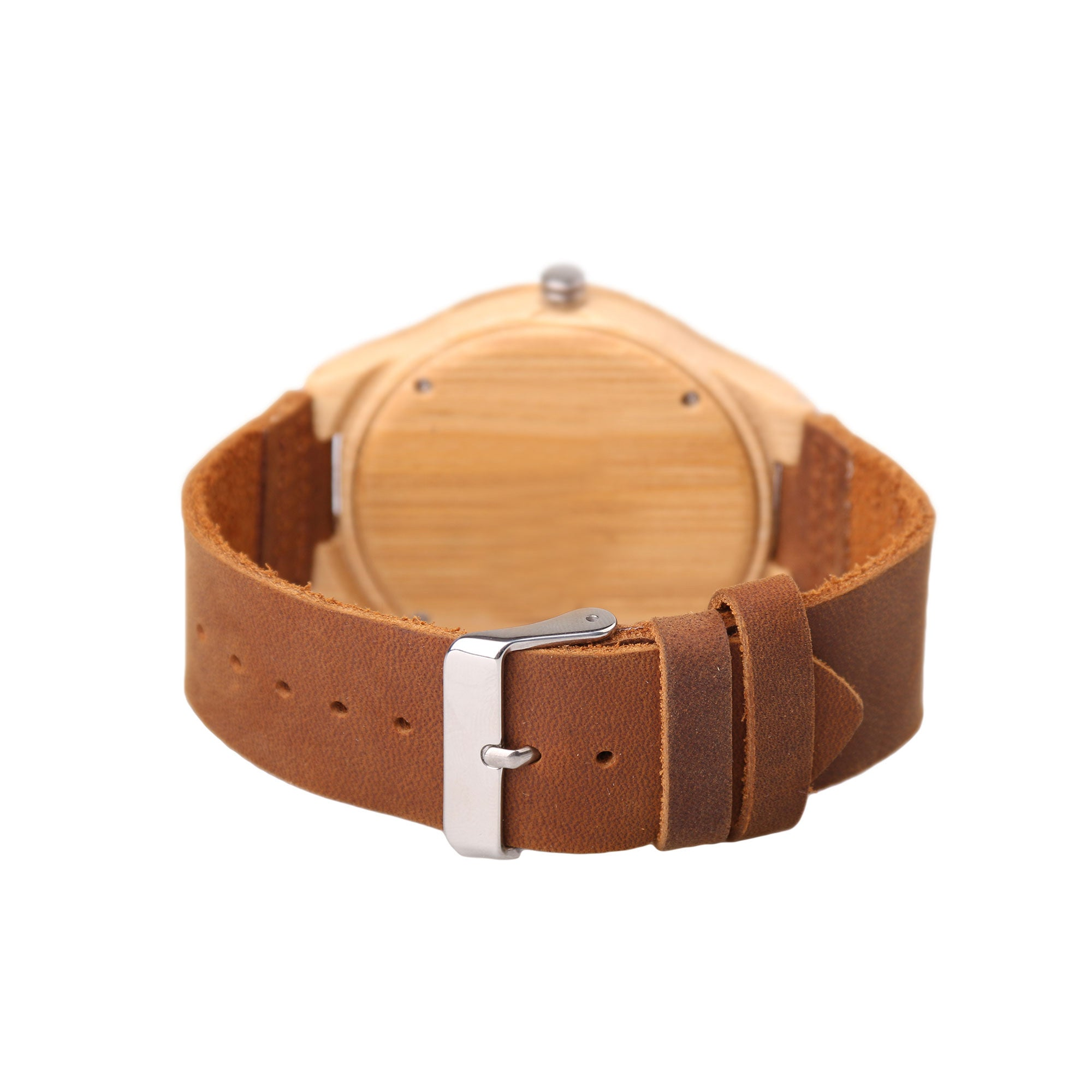 Charley Wood Watch  | Light Wood | Leather Strap