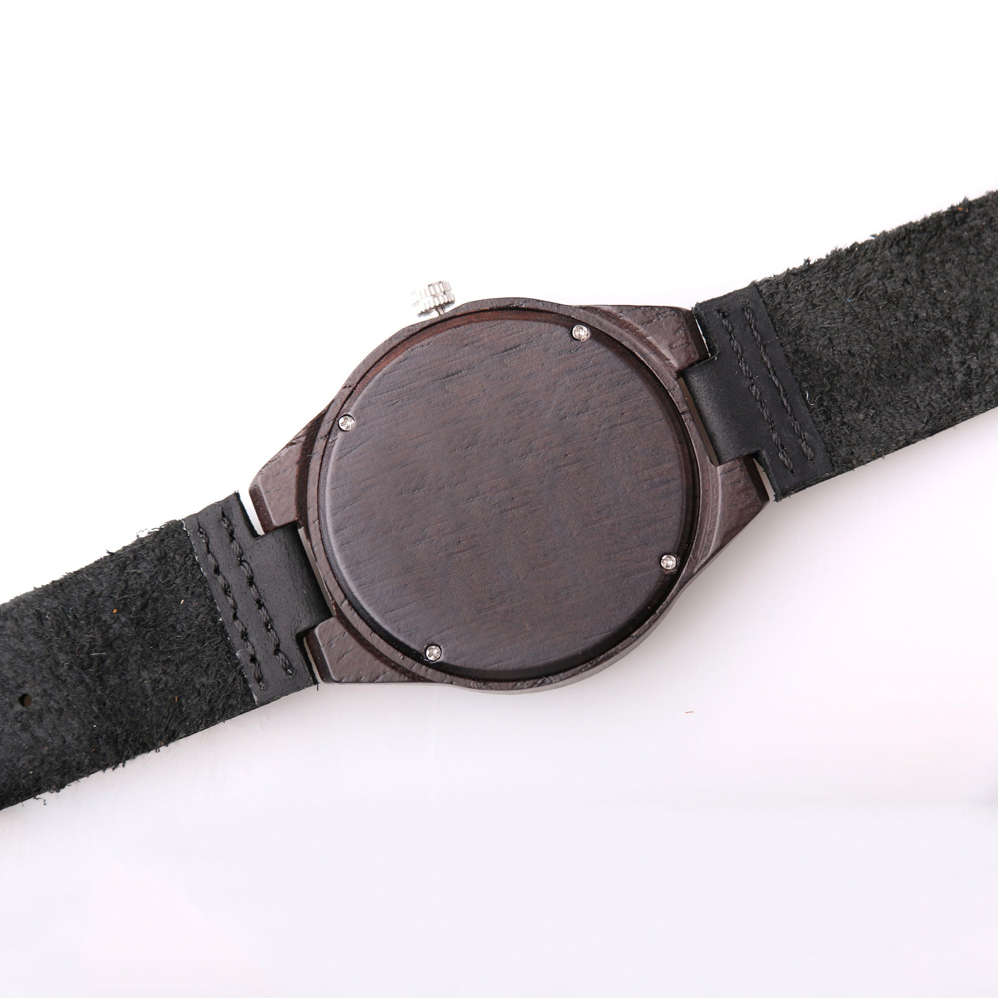 Austin Wood Watch | Dark Wood | Leather Strap