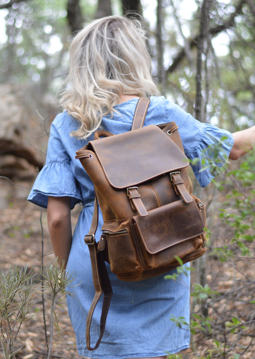 Phineas Leather Backpack