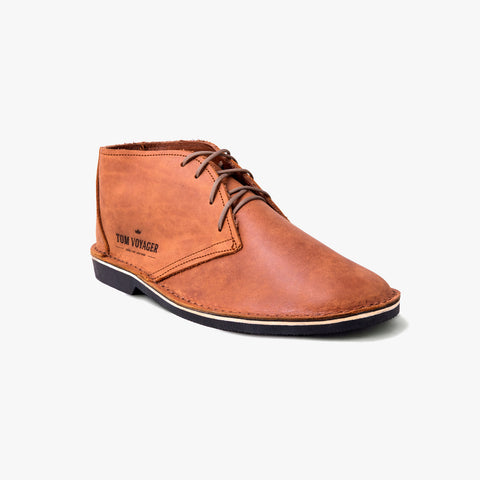 Tom Voyager High-Cut Vellies Light Brown