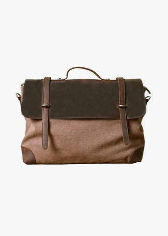 Atticus Canvas Messenger Bag Coffee
