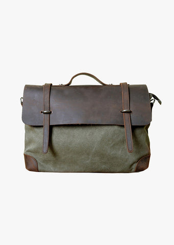 Atticus Canvas Messenger Basil