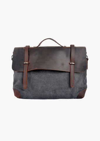Atticus Canvas Messenger Grey