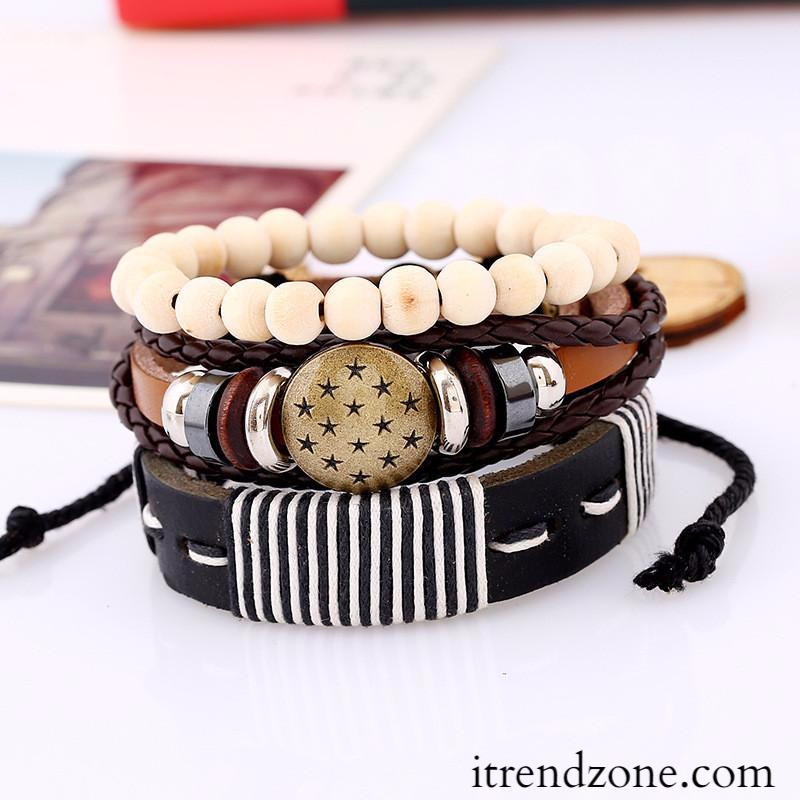 Leather and Wood Bracelets - iTrendZone