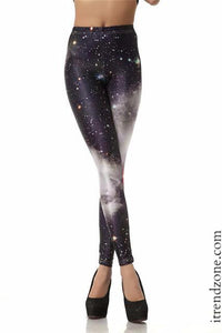 Black & White Galaxy Leggings - iTrendZone