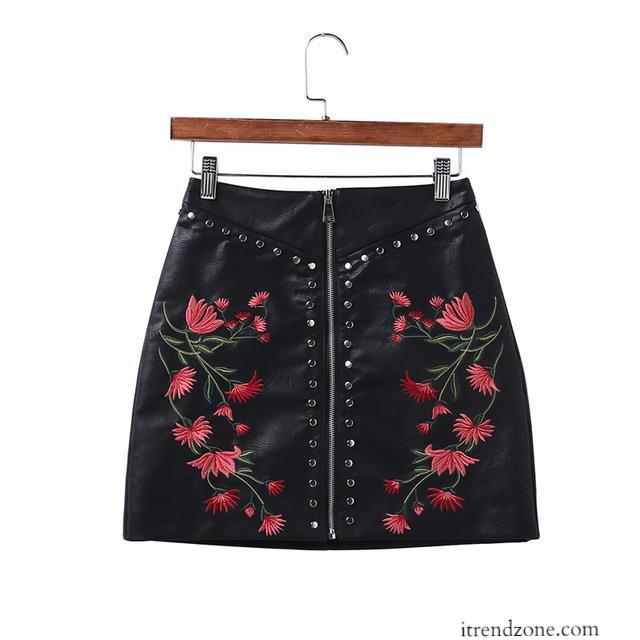 European Leather zipper Skirt - iTrendZone