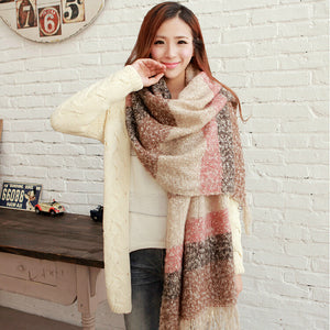 Winter Mohair Scarf Casual Patchwork - iTrendZone