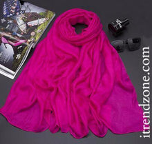 Solid Color Silk Scarves / Shawls - iTrendZone