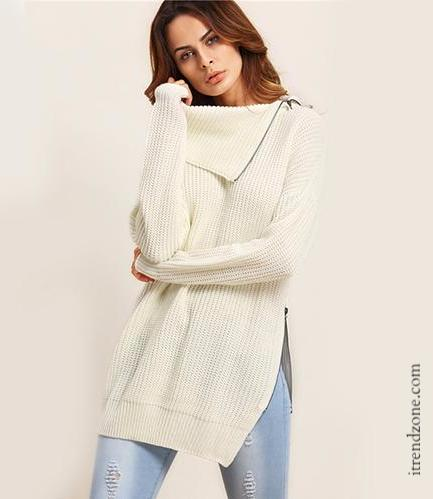 Split Side Pullovers Sweater - iTrendZone