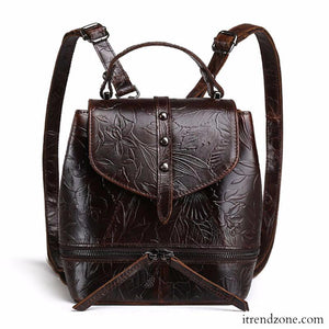 Embossed Vintage Travel Backpack - iTrendZone